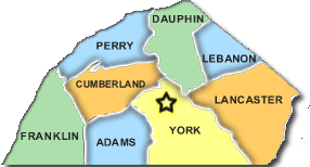 South Central Pennsylvania Map