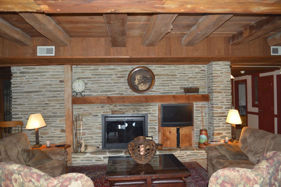 One of our Living Rooms and Fireplaces