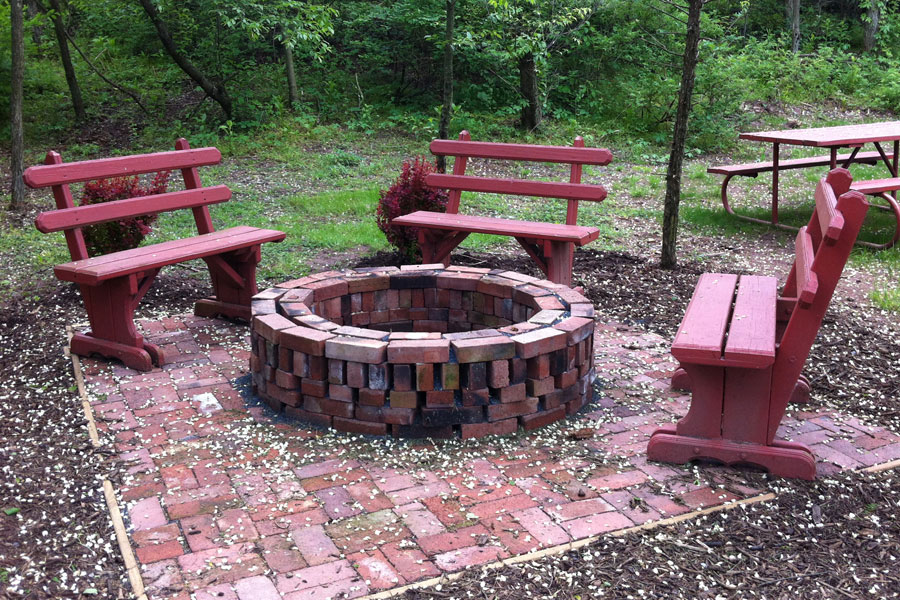 Firepit in our Cove